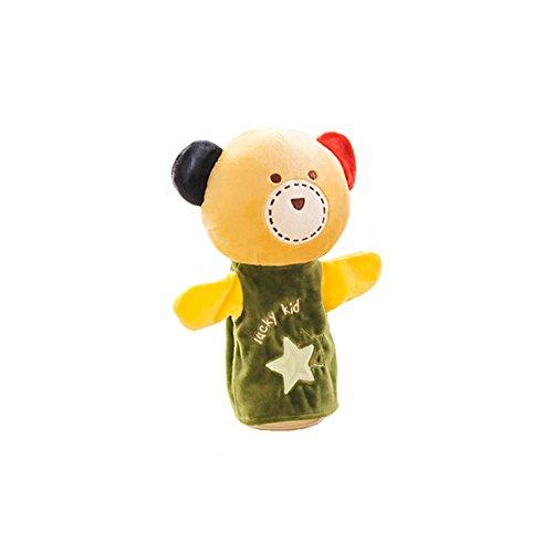 AGEM Kids Friends Bear Plush Hand Puppet Great Hand Play Puppet Toys for Children Toddlers Cream