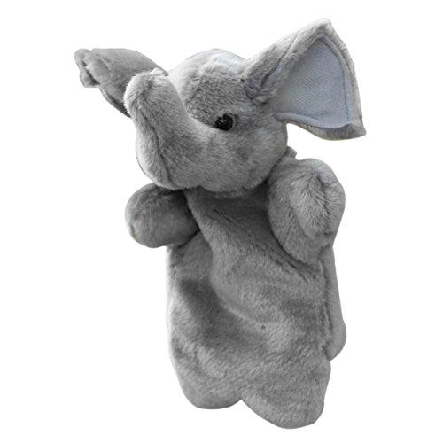 Chinatera Grey Elephant Hand Puppet Plush Toy Story Telling Educational Toys for Kids Preschool Kindergarten Children
