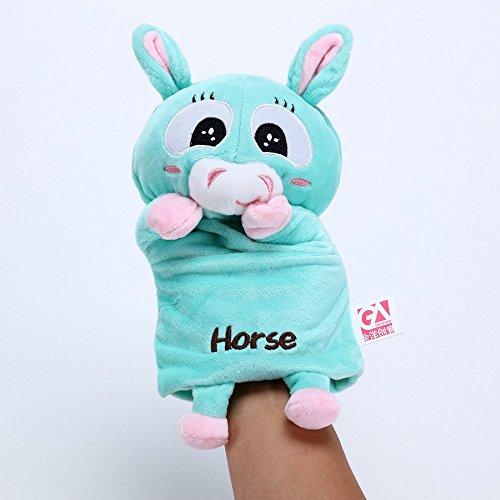 GA Creatives Lovely Funny Finger Doll Animal Horse Hand Puppet Children Plush Toys Family Games Storytelling Essential Puppet