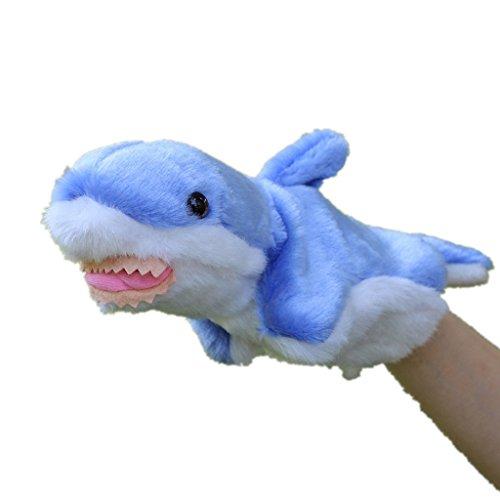 HLDIY Blue Shark Children Hand Puppets Plush Toys Baby Dolls chlidren Gift