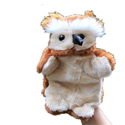 HLDIY Parent-child Hand Puppets Owl Plush Toy Baby Dolls Children Gifts