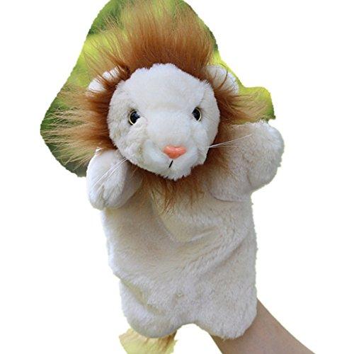 HLDIY Soft Plush Lion Children Hand Puppets Plush Toys storytelling Doll