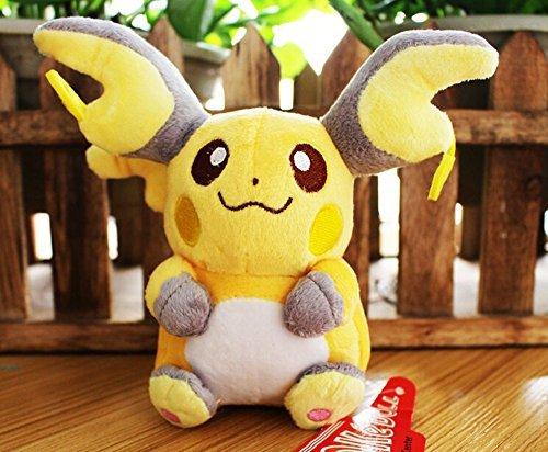 HOT SALE Crisher 14-15cm Raichu Pikachu Pokemon Plush Doll Toy by CRISHER