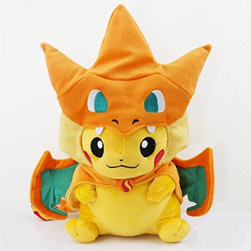 Pokemon Pikachu Cosplay Charmander Plush Toys Cute Pokemon Plush Stuffed Animals Soft Toys Fashion Pokemon Plush Doll 25cm