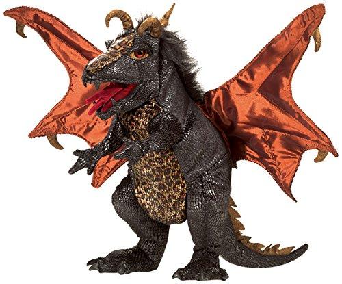 Folkmanis Dragon Hand Puppet Plush Black