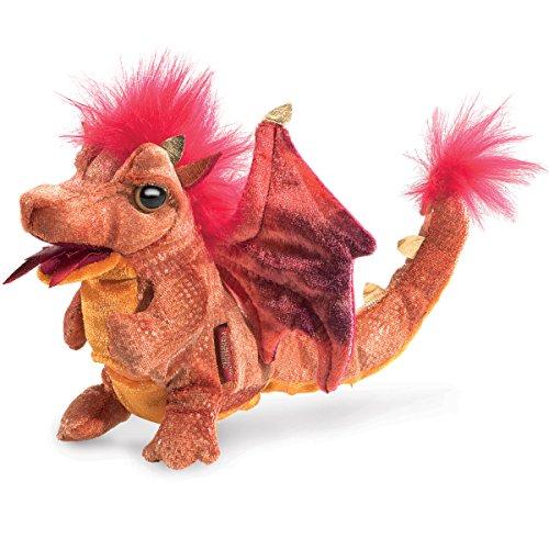 Folkmanis Fire Dragon Hand Puppet Plush