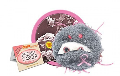Plush Microbe Breast Cancer by Giant Microbes