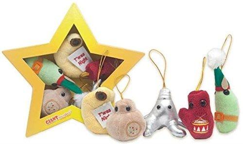 Plush Microbe Christmas Star Mini Microbes Box