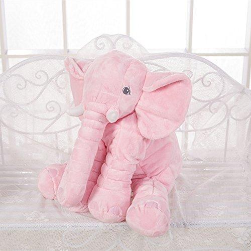 Misslight Elephant Pillow Animal Cushion Plush Sleeping Soft Toys for Home Decoration Pink