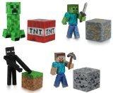 Minecraft Steve Zombie Creeper Enderman Set of 4 Figures