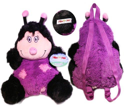 My Pillow Pet Plush Purple Ladybug Backpack
