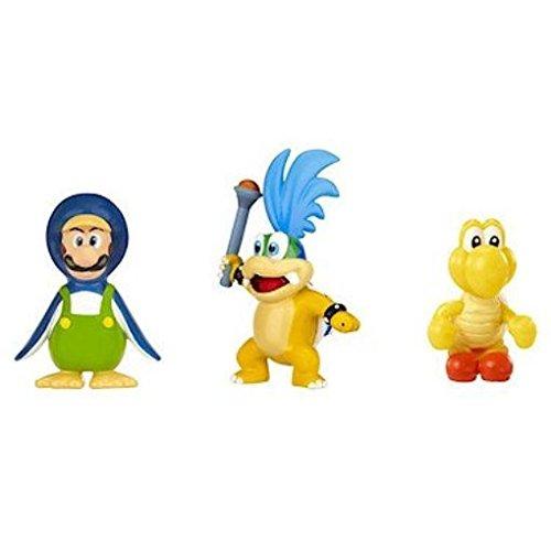 NINTENDO Mario Bros U Micro Figure 3-Pack  Larry KoopaPenguin LuigiRed Koopa Troopa