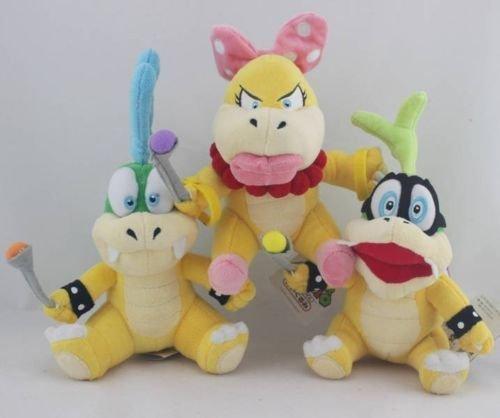 Super Mario Plush 59  15cm Iggy Koopa Wendy O Koopa Larry Koopa Set Doll Stuffed Animals Soft Figure Anime Collection Toy