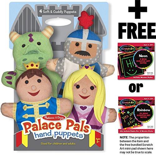 Palace Pals 4-Piece Hand Puppets Gift Set  FREE Melissa Doug Scratch Art Mini-Pad Bundle 90827