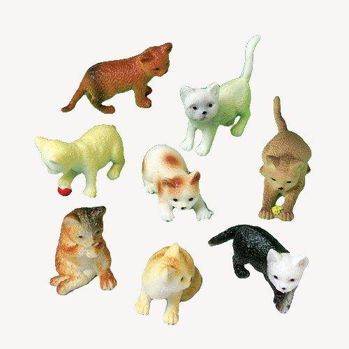 12 Mini Plastic CAT FiguresKITTEN Kitty TOYSBirthday PARTY FAVORSPrizesCUPCAKE ToppersTeacher Rewards