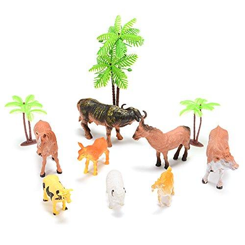 Acefun Farm Animal Figure Toys Animal Action Figure Set Kids Animal Toys 8-Piece
