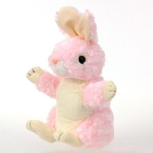 Hand puppet rabbit pink HP rabbit stuffed puppet