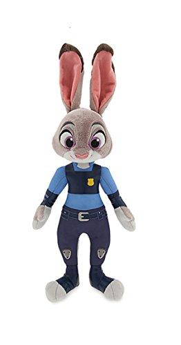 TalentPZ eco-friendly Halloween Christmas Birthday Gift Children Kids Zootopia Stuffed Puppet Dolls Plush Toys Judy Rabbit Height35cm  1379£