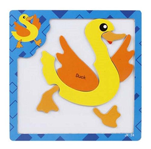 Lovely Creative Wood Jigsaw Puzzles Educational Toys Magnetic puzzles Duck