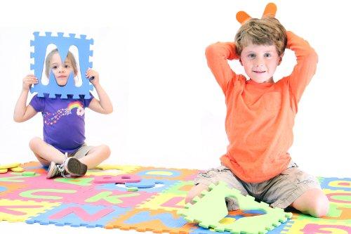 MOTA Alphabet ABC Mat - EVA Foam - Anti-Slip Foam Jigsaw Puzzle Floor Play Mat - 26 Tiles