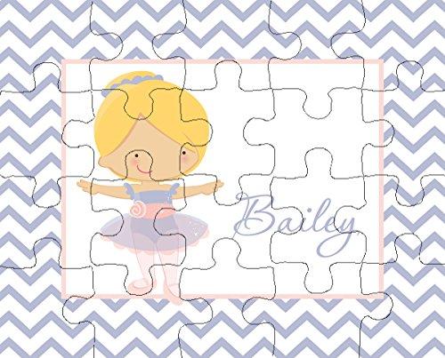 Ooh La La Printables Ballerina 4 20-Piece Personalized Puzzle