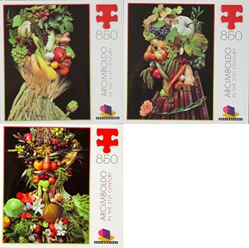 Klaus Enrique Archimboldo 850 Piece Art Puzzle Set - Autumn Vertumnus and Summer