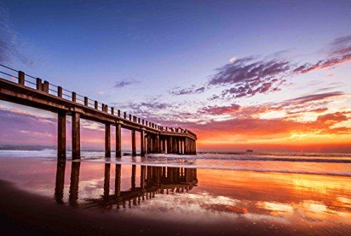 arts puzzles Jigsaw Puzzle Pier Sunrise Ocean Dawn 500-Pieces