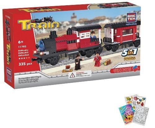 BricTek Building Brick Set 11702 TRAIN - Locomotive with Wagon 335 Pieces
