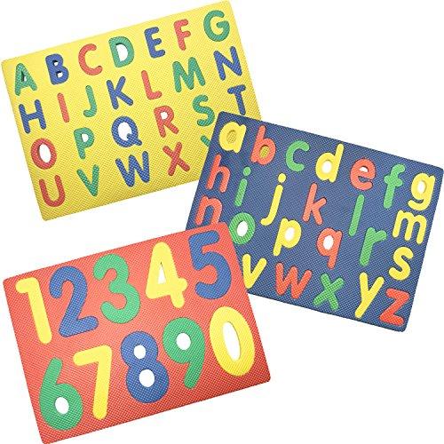 Regent Alphabet Numbers Foam Puzzles Set of 3