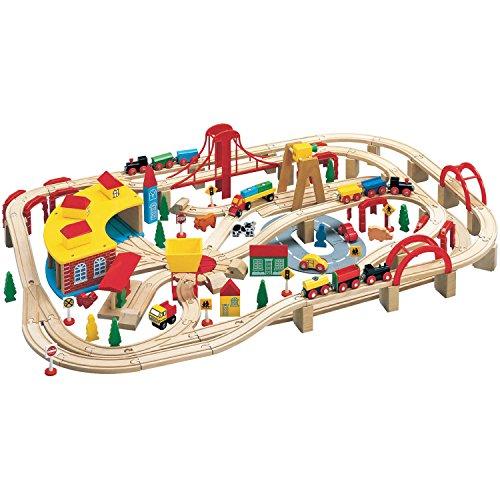 Wooden Train Play Set 145-Piece