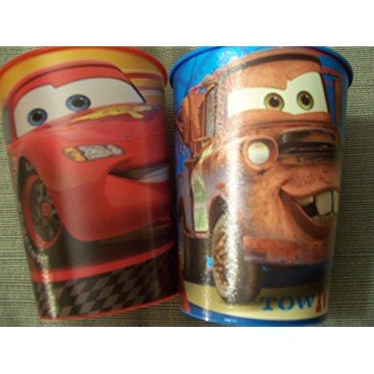 Disney Cars 2 Set of 2 Plastic Cups ~ Lightning McQueen Tow Mater