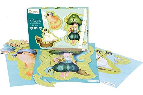 Avenue Mandarine 3 Puzzles Pirates Large