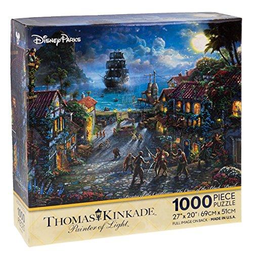 Disney Parks Exclusive Thomas Kinkade Pirates of Caribbean 27x20 1000 Pc Puzzle