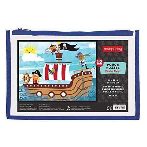 Mudpuppy Pirates Ahoy Pouch Puzzle 12 Piece