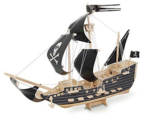 ULT-unite SEA-LAND 3-D Wooden Puzzle Pirate Ship