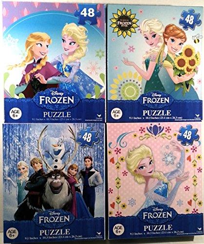 Frozen Puzzle Fun Pack - Four 48 Piece Puzzles from Disneys Frozen
