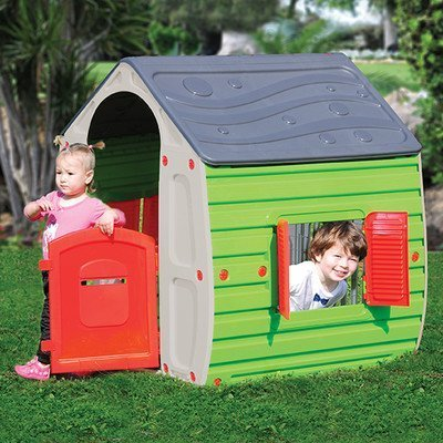 Starplay 17561 Magical Realistic Playhouse Plastic Material Gloss Finish Water Resistant Easy to Assemble Primary Colors For Kids 3 Years and Up Outdoor