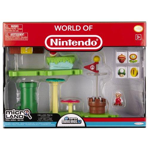 NINTENDO Mario Bros Universe Micro Deluxe Pack Wave 1 Acorn Plains Fire Mario Playset