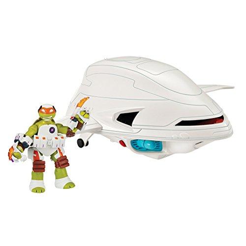 Teenage Mutant Ninja Turtles Fugitoid Ship Vehicle with Michelangelo Action Figure
