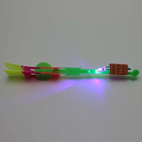 MMRM Light Up Flying Rocket Arrow Parachute Kit Children Kids Outdoor Toy Xmas Gift Random Color