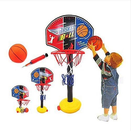 Pink Lizard Children Outdoor Toy Basketball Sport Set Adjustable Basketball Stands