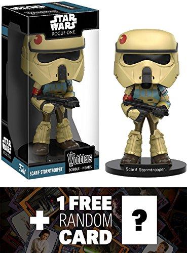 Scarif Stormtrooper Funko Wobblers x Star Wars Vinyl Figure  1 FREE Official Star Wars Trading Card Bundle 113847