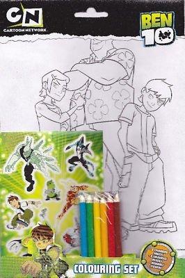 Ben 10 Ultimate Alien Colouring Set - Sheets Pencils Stickers