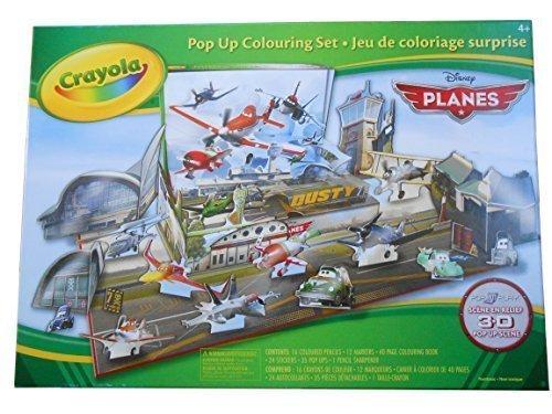 Disney Planes 3-D pop up Colouring set