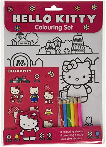 Hello Kitty Hello Kitty Colouring Set - Fab Colouring set with hello kitty colouring sheets and 12 hello kitty stickers