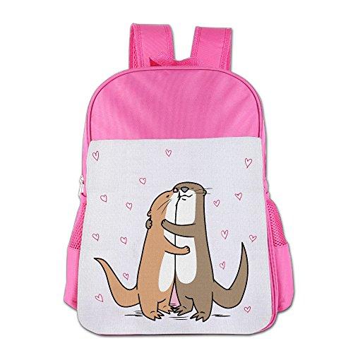 BoysGirls Love Of Cartoon Otter Heart ChildrenStudents School Backpack