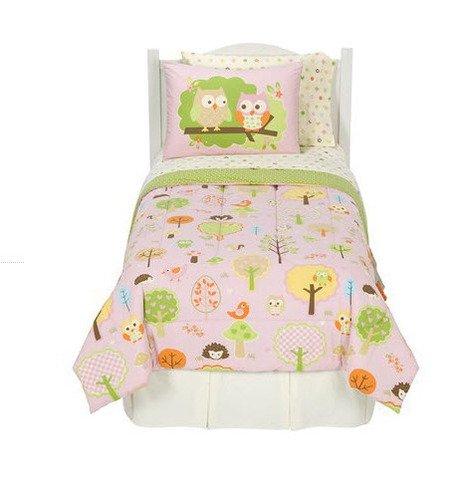 Circo Girls Love N Nature Owl Trees 5 Pc Comforter Sheets Sham Twin Bedding Set
