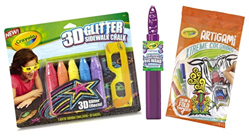 Kids Activity Set - Crayola Sidewalk-Chalk Bubbles origami Set