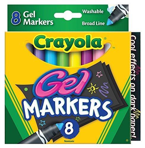 Crayola 8 Count Gel FX Washable Markers Case of 24 Packs Color 1 Pack Size Case of 24 Packs Model