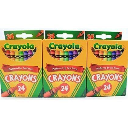 5 X Crayola 24 Count Box of Crayons Non-Toxic Color Coloring School Supplies 3 Packs by Crayola
